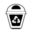 recycle bin icon image vector image vector image