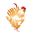 Red Fire Rooster Chinese New Year 2017 Symbol vector image vector image