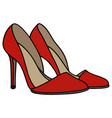 red high heel shoes vector image vector image