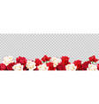 red roses border vector image vector image