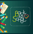 school bunner with lettering vector image