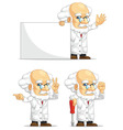 Scientist or Professor Customizable Mascot 5 vector image