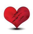 scratched heart vector image
