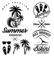 set for design to topic summer with bikini party vector image vector image