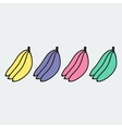 Set of hand-drawn banana - on the theme of the