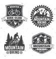 set of mountain bikings clubs vector image vector image