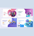 set web page design templates vector image vector image