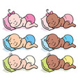 sleeping babies in diapers vector image vector image