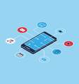 smartphone applications icons isometric vector image