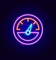 speedometer neon sign vector image