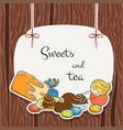 sweet banner vector image