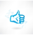 thumb up grunge icon vector image vector image