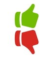 thumbs up vector image vector image