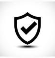 tick shield security icon vector image vector image