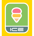 Urban ice cream sign vector image