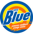 vote blue and remove orange stains vector image vector image