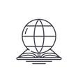 world law line icon concept world law vector image