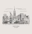 new york vintage vector image
