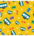 Seamless pattern - online shopping on yellow vector image