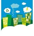 eco green city skyline vector image