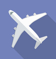 Airplane icon Modern Flat style with a long shadow vector image