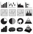 Graphs Charts Bars and Diagrams Data Element Set vector image