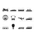 Silhouette Travel and transportation of people vector image