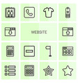 14 website icons vector image vector image