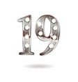 19 years anniversary celebration design vector image vector image