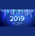 2019 new year count symbol with light bulbs vector image