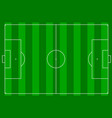 a football pitch vector image vector image