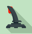 airplane joystick icon flat style vector image vector image