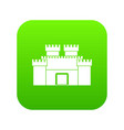 ancient fortress icon digital green vector image vector image