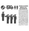 Army Icon with 1000 Medical Business Pictograms vector image vector image