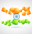artistic indian flag vector image