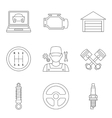 Auto service linear icons vol 2 vector image