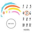 baby milestone blanket background love rainbow vector image