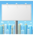 Blank billboard with urban background vector image vector image