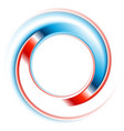 blue and red round circle logo design vector image vector image