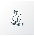 bonfire icon line symbol premium quality isolated vector image vector image
