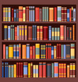 bookshelf background bookcase with books vector image