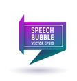 bubble speech purple vector image