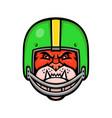 bulldog american football mascot vector image
