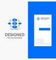 business logo for algorithm design method model vector image vector image