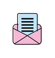 card letter with important message information vector image vector image