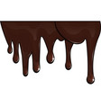chocolate drips vector image vector image