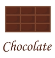 Chocolate piece isolated on white vector image vector image