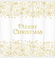 christmas card with line art icon vector image vector image