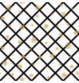 christmas gold snowflake seamless pattern vector image