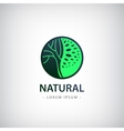 circle eco logo tree vector image